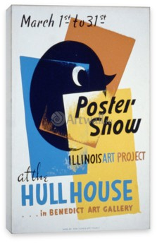 Искусство, Poster Show at the Hull House, Illinois Art Project