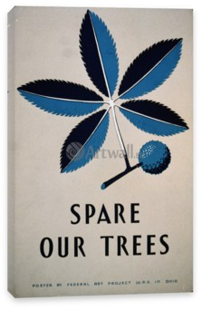 Искусство, Spare Our Trees Vintage Printable Poster