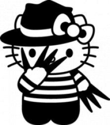 Hello Kitty, Наклейка «Hello Kitty Freddy Kruger»