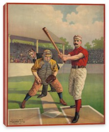 Спорт, Baseball Poster, Cavert Lithographing Co. 1895