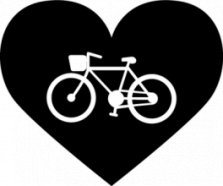 Велосипед, Наклейка «I love bicycle»