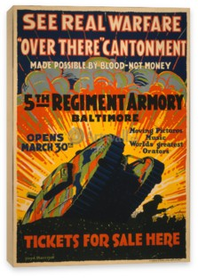 Война, See Real Warfare, Over There Cantonment, 5th Regiment Armory Baltimore