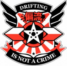 Drift, Наклейка «Drifting Is Not A Crime»