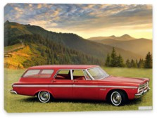 Plymouth, Plymouth Belvedere II 4-door Station Wagon (AR1 2-MR77) '1965