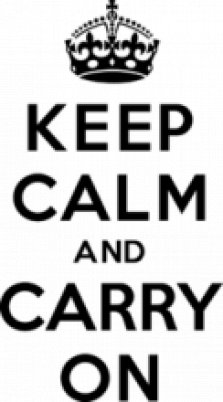 Надписи, Наклейка «Keep Calm And Carry On»