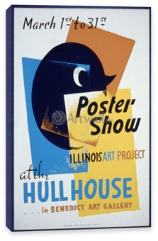 Works Progress Administration (USA), Poster Show at the Hull House, Illinois Art Project