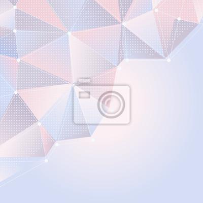Постер-картина Минимализм Абстрактный светло-розовый и синий фон с многоугольной конструкцииМинимализм<br>Постер на холсте или бумаге. Любого нужного вам размера. В раме или без. Подвес в комплекте. Трехслойная надежная упаковка. Доставим в любую точку России. Вам осталось только повесить картину на стену!<br>