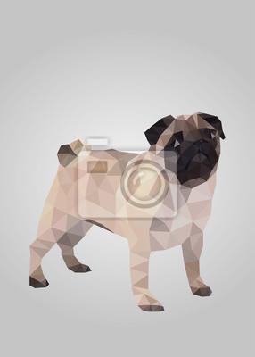 Постер-картина Полигональный арт Мопс собака стоит и ждет векторПолигональный арт<br>Постер на холсте или бумаге. Любого нужного вам размера. В раме или без. Подвес в комплекте. Трехслойная надежная упаковка. Доставим в любую точку России. Вам осталось только повесить картину на стену!<br>