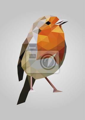 Постер-картина Полигональный арт Красочные птицы, ожидая и глядя vector_reference изображенияПолигональный арт<br>Постер на холсте или бумаге. Любого нужного вам размера. В раме или без. Подвес в комплекте. Трехслойная надежная упаковка. Доставим в любую точку России. Вам осталось только повесить картину на стену!<br>