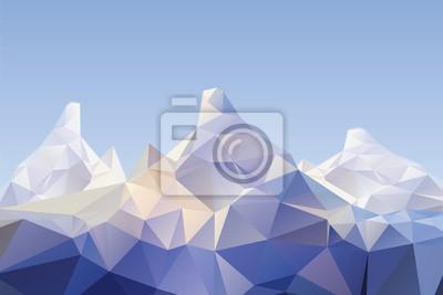 Постер-картина Полигональный арт Низкий поли горные пейзажиПолигональный арт<br>Постер на холсте или бумаге. Любого нужного вам размера. В раме или без. Подвес в комплекте. Трехслойная надежная упаковка. Доставим в любую точку России. Вам осталось только повесить картину на стену!<br>
