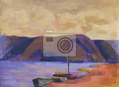 Пейзаж современный морской Лодки на берегу, живописьПейзаж современный морской<br>Репродукция на холсте или бумаге. Любого нужного вам размера. В раме или без. Подвес в комплекте. Трехслойная надежная упаковка. Доставим в любую точку России. Вам осталось только повесить картину на стену!<br>