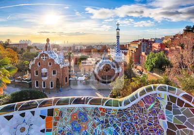 Постер Города и карты Барселона - Парк Гуэль В Барселоне, Испания, 29x20 см, на бумагеБарселона<br>Постер на холсте или бумаге. Любого нужного вам размера. В раме или без. Подвес в комплекте. Трехслойная надежная упаковка. Доставим в любую точку России. Вам осталось только повесить картину на стену!<br>