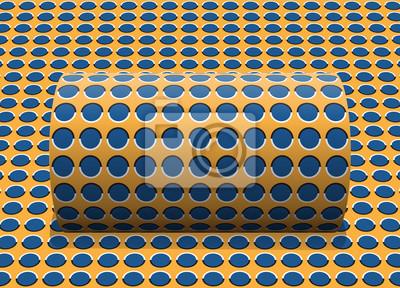 Постер-картина Оптическое искусство Горошек цилиндр катится по наклонной поверхности. Абстрактные векторные оптические иллюзии иллюстрации.Оптическое искусство<br>Постер на холсте или бумаге. Любого нужного вам размера. В раме или без. Подвес в комплекте. Трехслойная надежная упаковка. Доставим в любую точку России. Вам осталось только повесить картину на стену!<br>