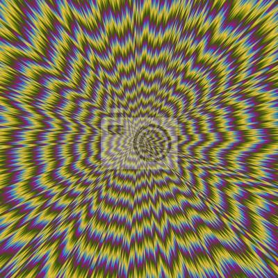Постер-картина Оптическое искусство Абстрактный красочные иллюстрации гипнотического ярким рисункомОптическое искусство<br>Постер на холсте или бумаге. Любого нужного вам размера. В раме или без. Подвес в комплекте. Трехслойная надежная упаковка. Доставим в любую точку России. Вам осталось только повесить картину на стену!<br>