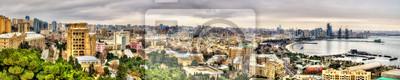 Постер Города и карты Панорама города Баку, 100x20 см, на бумагеБаку<br>Постер на холсте или бумаге. Любого нужного вам размера. В раме или без. Подвес в комплекте. Трехслойная надежная упаковка. Доставим в любую точку России. Вам осталось только повесить картину на стену!<br>