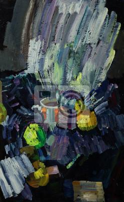 Искусство, картина Постер 104684730, 20x32 см, на бумагеНатюрморт в современной живописи<br>Постер на холсте или бумаге. Любого нужного вам размера. В раме или без. Подвес в комплекте. Трехслойная надежная упаковка. Доставим в любую точку России. Вам осталось только повесить картину на стену!<br>