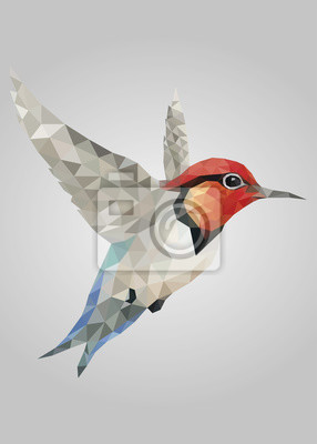 Постер-картина Полигональный арт Летят разноцветные птицы стоит и смотрит векторПолигональный арт<br>Постер на холсте или бумаге. Любого нужного вам размера. В раме или без. Подвес в комплекте. Трехслойная надежная упаковка. Доставим в любую точку России. Вам осталось только повесить картину на стену!<br>
