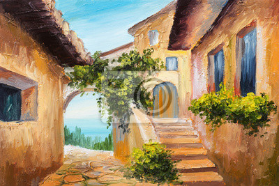 Средиземноморье, современный пейзаж Картина маслом - дом возле моря, красочные цветы, лето мореСредиземноморье, современный пейзаж<br>Репродукция на холсте или бумаге. Любого нужного вам размера. В раме или без. Подвес в комплекте. Трехслойная надежная упаковка. Доставим в любую точку России. Вам осталось только повесить картину на стену!<br>