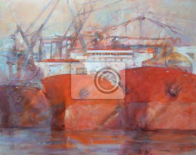 Пейзаж современный морской Корабли, танкер, современный ручной работы картиныПейзаж современный морской<br>Репродукция на холсте или бумаге. Любого нужного вам размера. В раме или без. Подвес в комплекте. Трехслойная надежная упаковка. Доставим в любую точку России. Вам осталось только повесить картину на стену!<br>