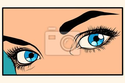 Постер Фото-постеры Красивая девушка с голубыми глазами, 30x20 см, на бумагеГлаза<br>Постер на холсте или бумаге. Любого нужного вам размера. В раме или без. Подвес в комплекте. Трехслойная надежная упаковка. Доставим в любую точку России. Вам осталось только повесить картину на стену!<br>