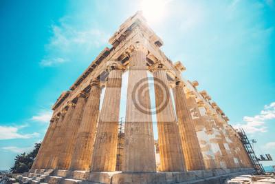 Сверхширокий выстрел из руин храм Парфенон богиня Афина в Акрополе, Афины, Греция, 30x20 см, на бумагеАфины, Акрополь<br>Постер на холсте или бумаге. Любого нужного вам размера. В раме или без. Подвес в комплекте. Трехслойная надежная упаковка. Доставим в любую точку России. Вам осталось только повесить картину на стену!<br>