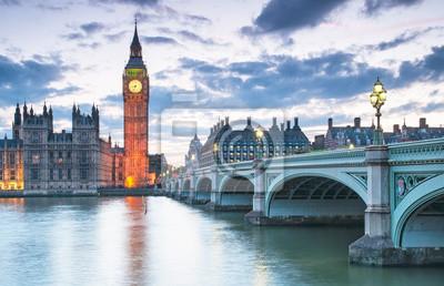 Биг Бен и здание парламента ночью, Лондон, Великобритания, 31x20 см, на бумагеТурфирма<br>Постер на холсте или бумаге. Любого нужного вам размера. В раме или без. Подвес в комплекте. Трехслойная надежная упаковка. Доставим в любую точку России. Вам осталось только повесить картину на стену!<br>