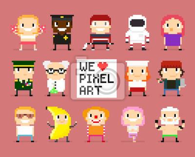 Постер-картина Пиксель-арт Пиксельные ПерсонажиПиксель-арт<br>Постер на холсте или бумаге. Любого нужного вам размера. В раме или без. Подвес в комплекте. Трехслойная надежная упаковка. Доставим в любую точку России. Вам осталось только повесить картину на стену!<br>