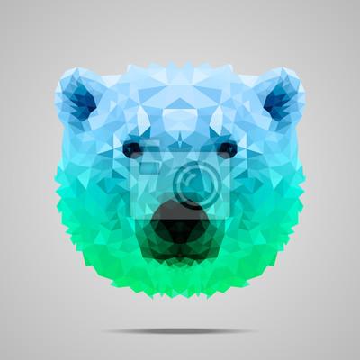 Постер-картина Фото-постеры Белый медведь поли градиент синий зеленый, 20x20 см, на бумагеПолигональный арт<br>Постер на холсте или бумаге. Любого нужного вам размера. В раме или без. Подвес в комплекте. Трехслойная надежная упаковка. Доставим в любую точку России. Вам осталось только повесить картину на стену!<br>