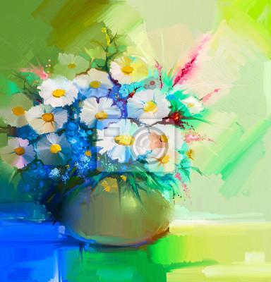 Постер Цветы в современной живописи Абстрактный картина маслом весенний цветок. Натюрморт из белых гербер, ромашек, сирени, полевых цветов. Красочный букет цветов в вазе. Ручная роспись цветочные современном стиле импрессионистов Цветы в современной живописи<br>Постер на холсте или бумаге. Любого нужного вам размера. В раме или без. Подвес в комплекте. Трехслойная надежная упаковка. Доставим в любую точку России. Вам осталось только повесить картину на стену!<br>