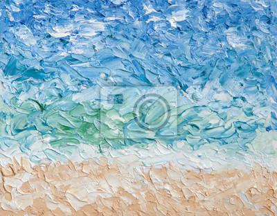 Пейзаж современный морской Лето абстрактная живопись маслом фон. Небо, облака,море,пляж. Палитра нож масляной краской.Пейзаж современный морской<br>Репродукция на холсте или бумаге. Любого нужного вам размера. В раме или без. Подвес в комплекте. Трехслойная надежная упаковка. Доставим в любую точку России. Вам осталось только повесить картину на стену!<br>