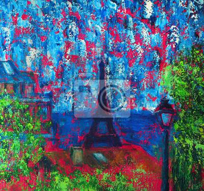 Постер Современный городской пейзаж Абстрактной живописи Париж с Эйфелевой башниСовременный городской пейзаж<br>Постер на холсте или бумаге. Любого нужного вам размера. В раме или без. Подвес в комплекте. Трехслойная надежная упаковка. Доставим в любую точку России. Вам осталось только повесить картину на стену!<br>