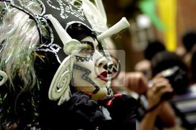 Постер Праздники Personnage de carnaval, 30x20 см, на бумагеКарнавал в Рио-де-Жанейро<br>Постер на холсте или бумаге. Любого нужного вам размера. В раме или без. Подвес в комплекте. Трехслойная надежная упаковка. Доставим в любую точку России. Вам осталось только повесить картину на стену!<br>