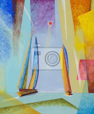 Пейзаж современный морской Полу-абстрактный морской пейзаж с яхтами.Пейзаж современный морской<br>Репродукция на холсте или бумаге. Любого нужного вам размера. В раме или без. Подвес в комплекте. Трехслойная надежная упаковка. Доставим в любую точку России. Вам осталось только повесить картину на стену!<br>