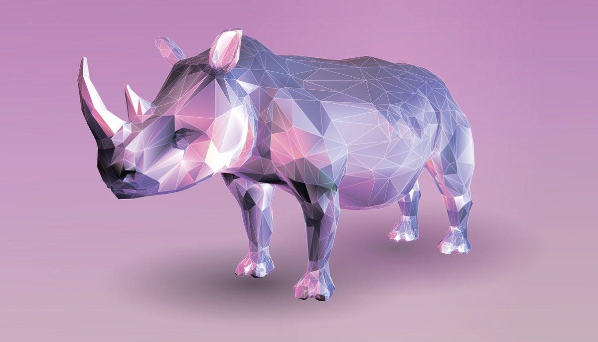 Постер-картина Полигональный арт Низкий поли носорога на розовом фонеПолигональный арт<br>Постер на холсте или бумаге. Любого нужного вам размера. В раме или без. Подвес в комплекте. Трехслойная надежная упаковка. Доставим в любую точку России. Вам осталось только повесить картину на стену!<br>