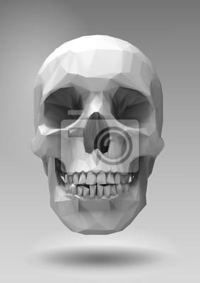 Постер-картина Полигональный арт Низкий поли вектор череп в 3D визуализации посмотретьПолигональный арт<br>Постер на холсте или бумаге. Любого нужного вам размера. В раме или без. Подвес в комплекте. Трехслойная надежная упаковка. Доставим в любую точку России. Вам осталось только повесить картину на стену!<br>