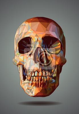 Постер-картина Полигональный арт Низкий поли изображением черепа на сером фонеПолигональный арт<br>Постер на холсте или бумаге. Любого нужного вам размера. В раме или без. Подвес в комплекте. Трехслойная надежная упаковка. Доставим в любую точку России. Вам осталось только повесить картину на стену!<br>