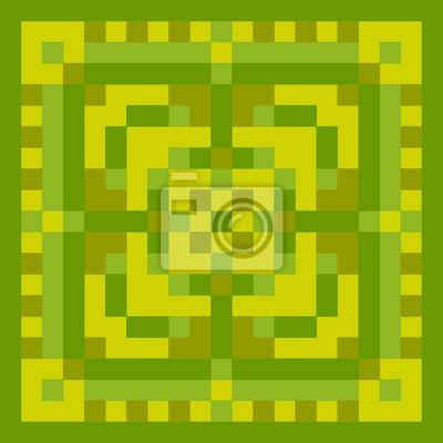 Постер-картина Пиксель-арт Пиксель зеленый орнамент. Пиксель геометрического искусства. Векторные иллюстрацииПиксель-арт<br>Постер на холсте или бумаге. Любого нужного вам размера. В раме или без. Подвес в комплекте. Трехслойная надежная упаковка. Доставим в любую точку России. Вам осталось только повесить картину на стену!<br>