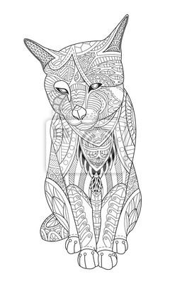 Постер-картина Раскраски антистресс Рисунок кошки для раскраски для взрослыхРаскраски антистресс<br>Постер на холсте или бумаге. Любого нужного вам размера. В раме или без. Подвес в комплекте. Трехслойная надежная упаковка. Доставим в любую точку России. Вам осталось только повесить картину на стену!<br>