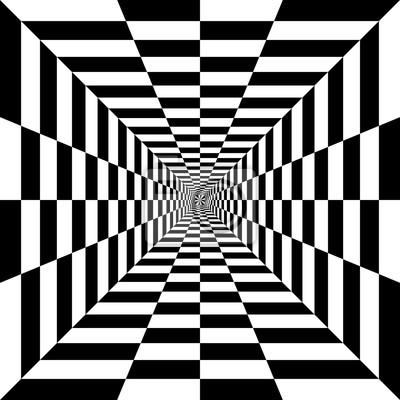 Постер-картина Оптическое искусство Элемент дизайна. черный и белый квадратыОптическое искусство<br>Постер на холсте или бумаге. Любого нужного вам размера. В раме или без. Подвес в комплекте. Трехслойная надежная упаковка. Доставим в любую точку России. Вам осталось только повесить картину на стену!<br>