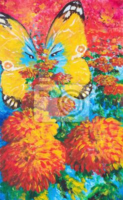 Цветы в современной живописи, картина Желтая бабочка и красные цветы.Картина масломЦветы в современной живописи<br>Репродукция на холсте или бумаге. Любого нужного вам размера. В раме или без. Подвес в комплекте. Трехслойная надежная упаковка. Доставим в любую точку России. Вам осталось только повесить картину на стену!<br>
