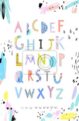 Вектор Рука Нарисованные Художественного Алфавита . Вырез буквы. Шрифт., 20x31 см, на бумагеАлфавит<br>Постер на холсте или бумаге. Любого нужного вам размера. В раме или без. Подвес в комплекте. Трехслойная надежная упаковка. Доставим в любую точку России. Вам осталось только повесить картину на стену!<br>