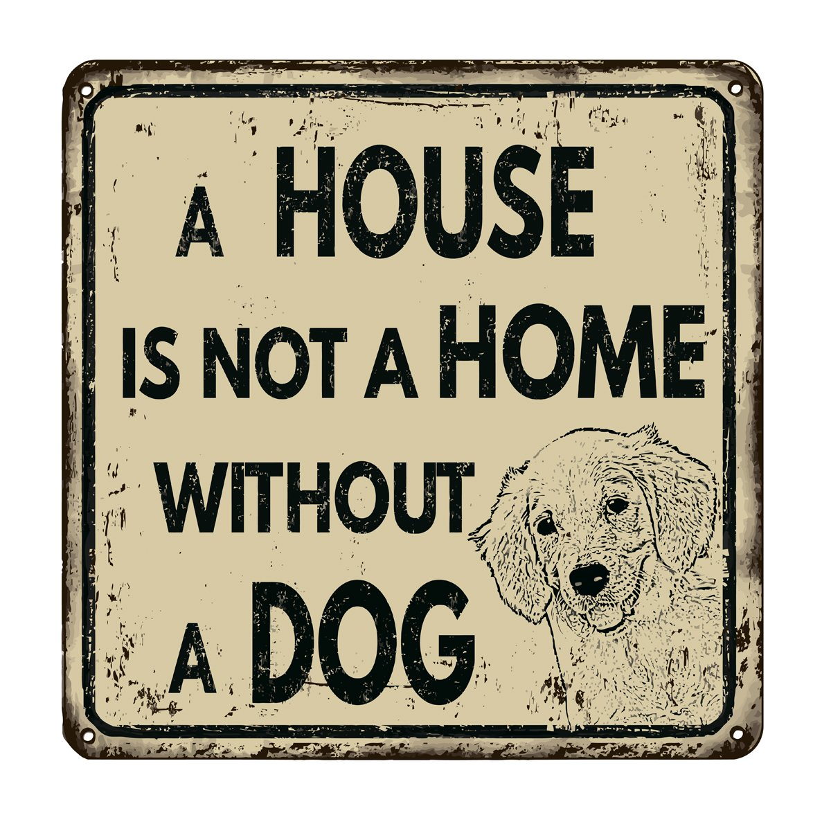 Постер-картина Смешные таблички Дом не дом без собака ретро металлический знакСмешные таблички<br>Постер на холсте или бумаге. Любого нужного вам размера. В раме или без. Подвес в комплекте. Трехслойная надежная упаковка. Доставим в любую точку России. Вам осталось только повесить картину на стену!<br>