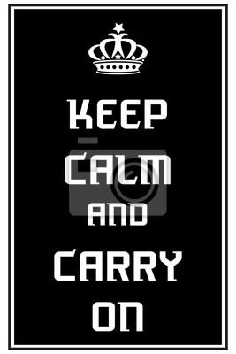 Постер Сохраняйте спокойствие и продолжайтеKeep Calm<br>Постер на холсте или бумаге. Любого нужного вам размера. В раме или без. Подвес в комплекте. Трехслойная надежная упаковка. Доставим в любую точку России. Вам осталось только повесить картину на стену!<br>