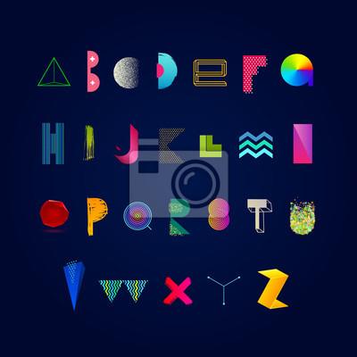 Вектор яркие разноцветные алфавит. Современные гарнитуры, изготовленные из различных абстрактные формы, текстуры и градиента. Набор шрифтов., 20x20 см, на бумагеАлфавит<br>Постер на холсте или бумаге. Любого нужного вам размера. В раме или без. Подвес в комплекте. Трехслойная надежная упаковка. Доставим в любую точку России. Вам осталось только повесить картину на стену!<br>