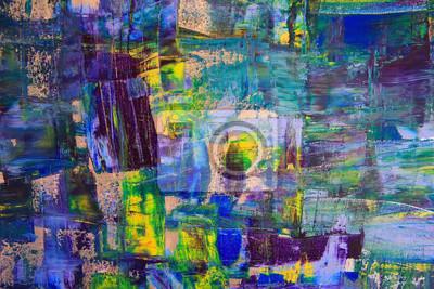 Постер Современный городской пейзаж Абстрактного искусства фона. Картина маслом на холсте. Разноцветные яркие текстуры. Фрагмент художественного произведения. Пятна масляной краски. Мазки краски. Современного искусства. Современного искусства.Современный городской пейзаж<br>Постер на холсте или бумаге. Любого нужного вам размера. В раме или без. Подвес в комплекте. Трехслойная надежная упаковка. Доставим в любую точку России. Вам осталось только повесить картину на стену!<br>