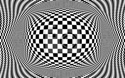 Постер-картина Оптическое искусство Абстрактные оптическая иллюзия иллюстрации. Черные и белые шашкиОптическое искусство<br>Постер на холсте или бумаге. Любого нужного вам размера. В раме или без. Подвес в комплекте. Трехслойная надежная упаковка. Доставим в любую точку России. Вам осталось только повесить картину на стену!<br>