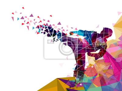Постер-картина Полигональный арт Для спортивных концепция Боец каратэ, дзюдо.Полигональный арт<br>Постер на холсте или бумаге. Любого нужного вам размера. В раме или без. Подвес в комплекте. Трехслойная надежная упаковка. Доставим в любую точку России. Вам осталось только повесить картину на стену!<br>