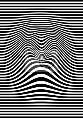 Постер-картина Оптическое искусство ОП искусство абстрактный геометрический узор черный и белый векторные иллюстрацииОптическое искусство<br>Постер на холсте или бумаге. Любого нужного вам размера. В раме или без. Подвес в комплекте. Трехслойная надежная упаковка. Доставим в любую точку России. Вам осталось только повесить картину на стену!<br>
