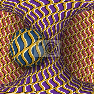 Постер-картина Оптическое искусство Оптическая иллюзия движения иллюстрации. Сферы вращения вокруг движущегося гиперболоид. Абстрактные фантазии в сюрреалистическом стиле.Оптическое искусство<br>Постер на холсте или бумаге. Любого нужного вам размера. В раме или без. Подвес в комплекте. Трехслойная надежная упаковка. Доставим в любую точку России. Вам осталось только повесить картину на стену!<br>