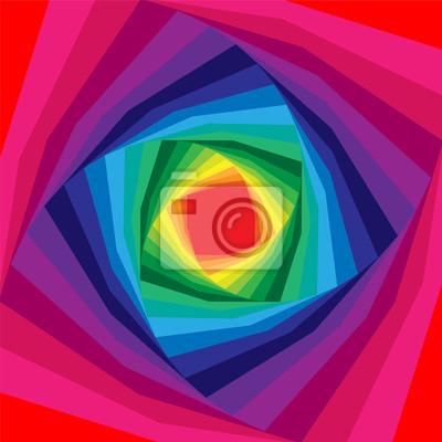 Постер-картина Оптическое искусство Векторные Иллюстрации.Красочные спирали, расширяющейся от центра. Радужный Фон. Оптическая иллюзия глубины и объема. Подходит для веб-дизайна.Оптическое искусство<br>Постер на холсте или бумаге. Любого нужного вам размера. В раме или без. Подвес в комплекте. Трехслойная надежная упаковка. Доставим в любую точку России. Вам осталось только повесить картину на стену!<br>